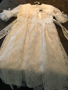 First Communion or Flower Girl Dress  White  Size 8