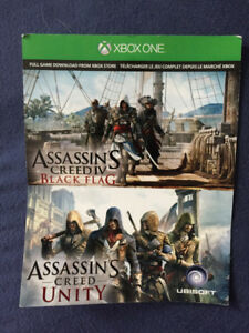 Assassins creed black flag and unity Xbox one