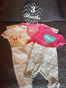 3 Month Girls Onesies and Pants