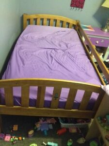 Single bed with with mattress and  frame