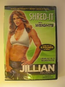 New Jillian Michaels DVD Shred-It with Weights