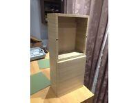 Shelf and cuboard in light oak