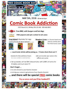 FREE COMIC BOOK DAY at ComicBookAddiction-1022 Brock St S Whitby