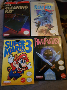 Nes Games in Box with manuals
