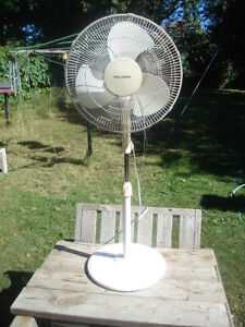 "Excellent Condition: 17"" Diameter, 3 Speed, Standalone Fan"