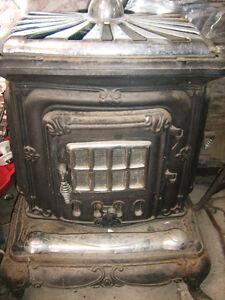 poele à bois antique parlor stove en fonte