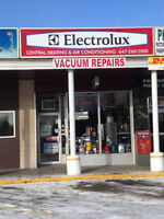 vacuum parts and repairs and in home carpet cleaning