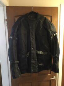 Skintan Textile Black Motorcycle Jacket.
