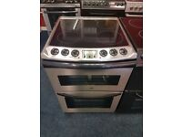 ZANUSSI 60CM CEROMIC TOP ELECTRIC COOKER IN SHINY SILIVER. H