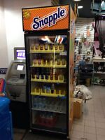 Snapple fridge. Commercial fridge/beverage fridge