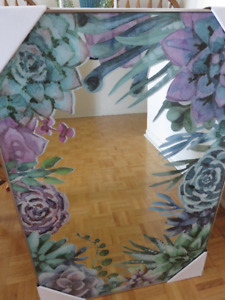 Mirror,Bowring Cups, Home Furniture,Decorative Floral