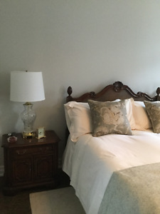 Headboard and 2 night tables