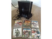 PS3, 2 controllers, 6 games, camera