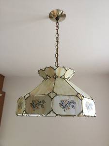 Real Glass - Ceiling lamp Tiffany Style