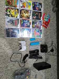 Nintendo Wii (black) + 12 games