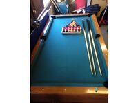 Full size slate pool table ...SOLD,,