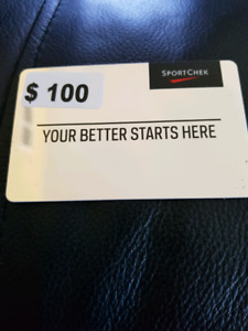 Sports check 100$ gift card