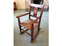 Child's Oak Rocking Chair