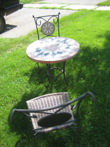 Wicker/Metal Patio Set