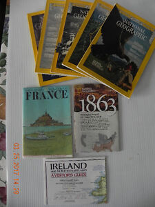 5 National Geographic mag. & 3 maps (reduced price to $5. )