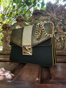 Exotic Gold python Bag leather from South America