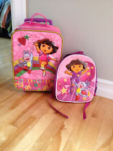 Dora Suitcase and backpack