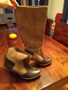 Suade/Leather BCBG boots women's size 10; never worn.