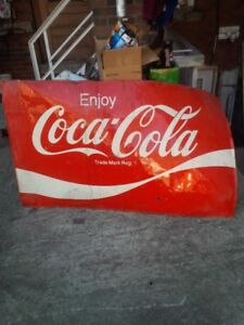 Vintage Coke Sign and Antique Door Pushes