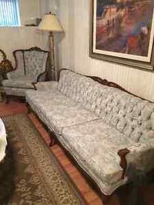 Sofa et fauteuil vintage