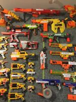 Small collection of nerf guns. Just enough for 1 ten year old