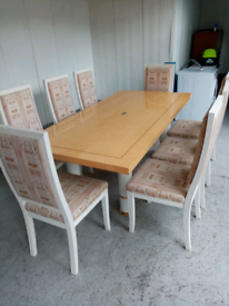 Italian 8 seater dining table and matching sideboard