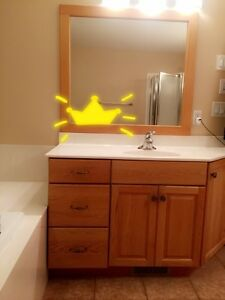 2 Cutom built vanities with mirrors