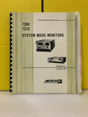 Ailtech 7360 7370 System Noise Monitors Operation And Service Manual