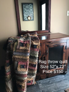 Primitive ragged throw