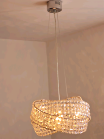 Stunning next venetian crystal chrome chandelier