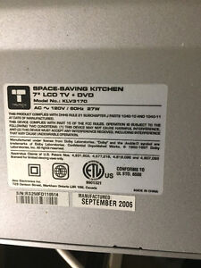 """7"""" LCD under the counter television and DVD player Windsor Region Ontario image 2"""
