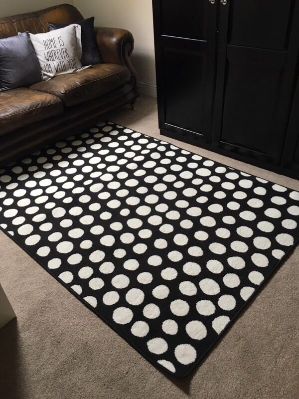 Ikea Black And White Spot Rug In Bridgend Gumtree