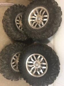 Rims and tires for a teryx4