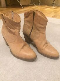 Size 7(40) Tanned real leather boots John Lewis