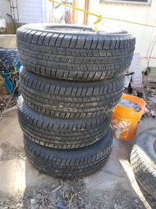 4 + 1 HEAVY DUTY MICHELIN TIRES LTX M/S2 LT 245 / 75 / R16