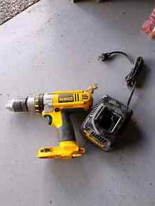 Dewalt drill and charger. Good condition. No battery.