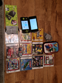 Nintendo 2ds XL with built in mario Kart 7 and games bundle