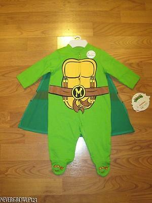 TEENAGE MUTANT NINJA TURTLES OUTFIT~HALLOWEEN COSTUME~BODYSUIT~0-3 MONTHS~INFANT - Infant Halloween Costume 0-3 Months