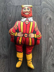 Vintage 1970's Burger King Plush Stuffy Stuffie Stuffed Doll