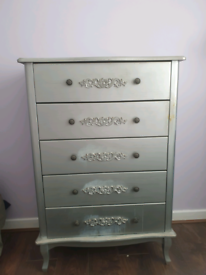 Grey chest of drawers upcycle project required £30