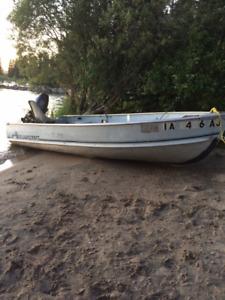 12 foot Aluminum fishing boat and trailer