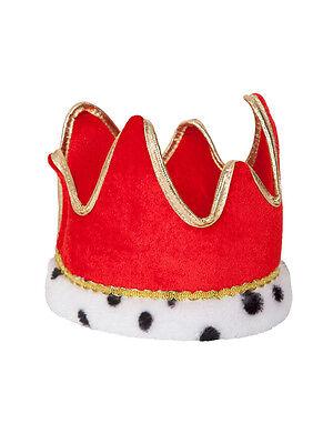 Kings Crown Kostüme (Royal Soft Crown Adults Fancy Dress King & Queen Mens Ladies Nativity Accessory)