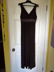 Gorgeous Chocolate Brown Evening Dress (paid $200!) - New! (obo)