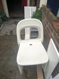 FREE 4 Plastic chairs