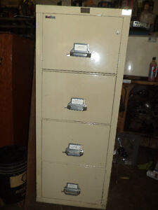 Used Insulated 4 drawer Fire King filing cabinet